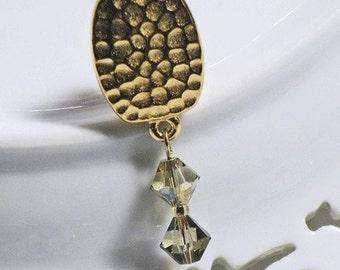 Classic Swarovski Khaki Green Crystal Clip-on earrings