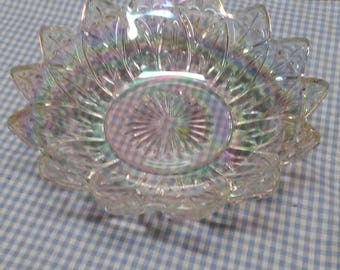 Glass Compote Serving Bowl
