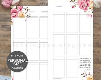 Printable Planner Inserts for Personal Size Planners | Style PS1