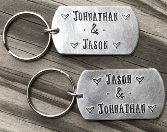 Personalized Key Chain, Hand Stamped, Keepsake, Mother's Day, Name Jewelry, Father's Day, Key Chain