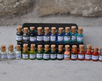 Set of 15 Mini Gaming Minecraft Potions, Miniatures, Charms