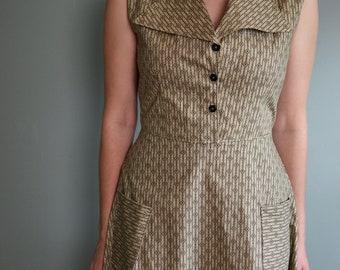 Harlow Dress / Day Dress / 1930's dress /  Summer Dress / Retro Dress / Vintage Dress / Long Dress / Vintage Dress /Sleeveless Dress