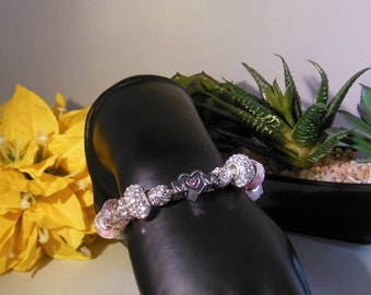 Mother's Day Gift, Mother's Day Jewelry,Mother's Day Bracelet,By Lettie,European Beaded Bracelet,Handcrafted Jewelry