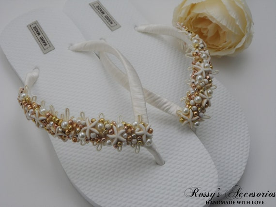 c7655ae13e36 Flip Flops Glass Flip Party Bride Pearls Beach Gold Gift Flip Flops Shower  Starfish Wedding Bridal ...
