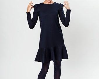 Autumn dress   Minimalist dress   Low waist dress   LeMuse autumn dress