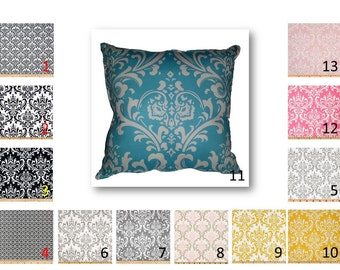 Damask Print Pillow Cover in Your choice of damask fabric by Premier Prints - FREE Domestic Ship