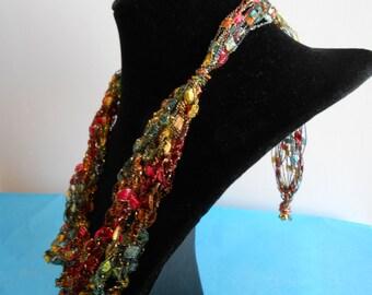 Trellis Necklace / Crochet Necklace Item No. A 102