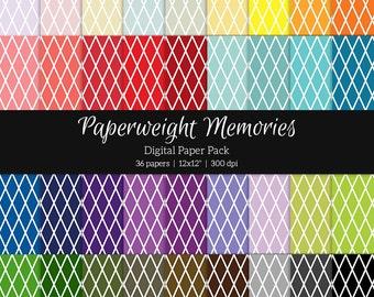 Basic: Diamond Grid - 36 colours - Digital Papers - Instant Download - digital scrapbooking - patterned paper - digital background - CU ok