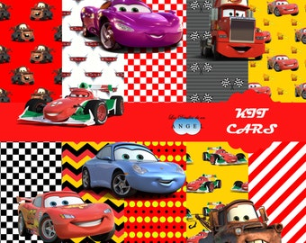 Digital paper Kit Fiesta cars/Cars Digital Papers Clipart