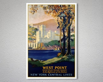 West Point  Vintage Travel Poster - Poster Print, Sticker or Canvas Print / Gift Idea