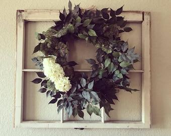 Rustic Window Wreath