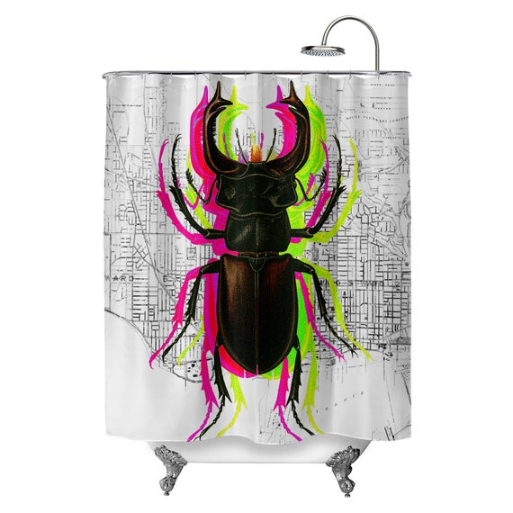 Trippy Bug Shower Curtain
