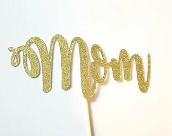 Mom cake topper | Etsy