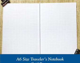 A6 Size Grid Paper Traveler's Notebook Insert