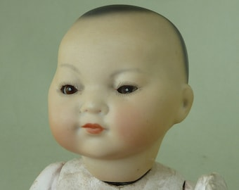 AM Armand Marseille ELLAR Oriental Character German Bisque Baby Doll Sleep Eyes