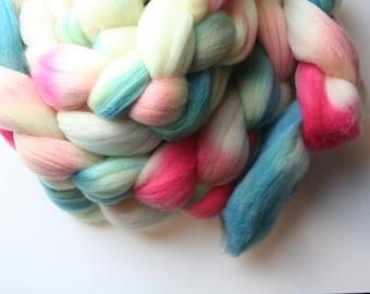 Springtime Delight Hand Dyed Merino Tops (Roving) Braid