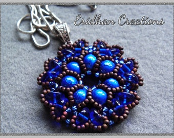 "Beaded pendant ""Rosetta"" - tutorial for Piggy beads"