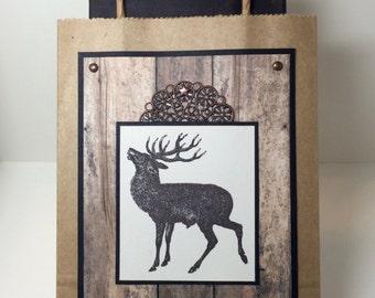 Hunter's Gift Bag - Elk - Hunting - Deer Hunting -Hunter's Gift - Masculine Gift - Handmade Card