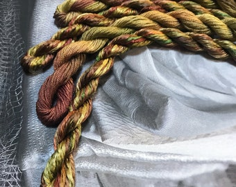 Silk Embroidery Thread hand dyed for Emroidery.