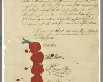 Poster, Many Sizes Available; 1783 Treaty Of Paris, Benjamin Franklin John Adams