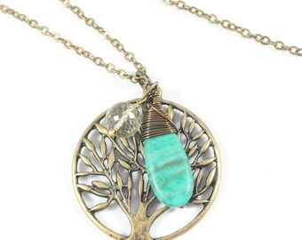 Forest Necklace, Tree Necklace, Tree of Life Necklace, Bohemian Jewelry, Hippie Jewelry, Spiritual Jewelry, Tree of Life Gifts, Nature Gifts