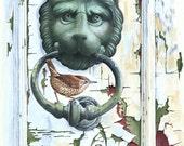 Wren on Door Knocker // A...