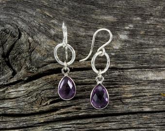 Amethyst Spirit Stone Earrings