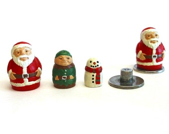 Santa Russian Doll Thimble Hand Painted Pewter Collectors Thimble Gift