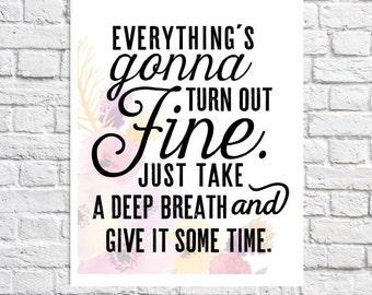 Mur d'inspirations Art devis impression mots d'Encouragement cadeau pour les femmes inspiration dictons sur la vie inspirant devis restent positifs