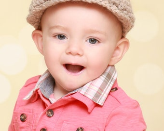 9 Sizes Boy Hat Baby Hat Toddler Hat Baby Boy Hat Toddler Boy Hat Irish Wool Donegal Cap Donegal Hat Tan Newsboy Hat Newsboy Cap Driving Hat