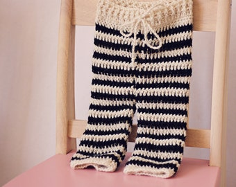 Crochet PATTERN  - Striped Baby Pants