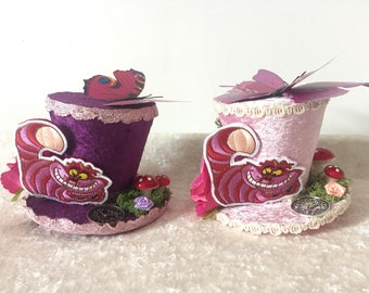 Cheshire Cat mini top hat fascinator.