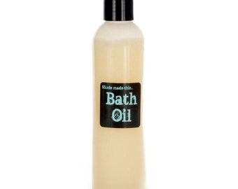 8 oz Squeeze Bottle of Naturally Derived Creamy Whipped Bath Oil - Blended Fresh To Order For You