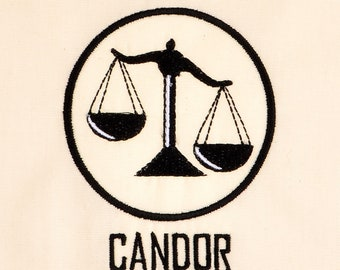 Divergent Candor 4x4 machine embroidery design