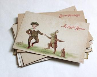 12 Antique Easter Unused Blank Postcards - Vintage Easter Crafts, Scrapbooking, Holiday Decor