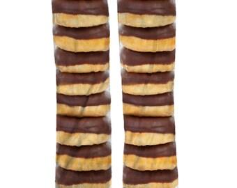 Chocolate Donut Socks | Fun Food Novelty Socks | Stocking Stuffers | Donut Birthday Gift Socks | Donut Lover