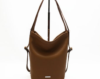 Convertible Leather Backpack Purse