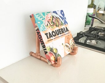 Copper Ipad stand/ Cookbook stand/ Ipad accessories
