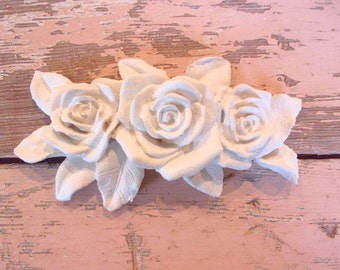 Shabby Chic Furniture Appliques * Rose Bouquet * Paintable * Stainable * 5.95 No Limit Shipping!