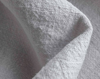 Light Grey Stone Washed 100% Linen Fabric 240gsm 150cm wide - Sold by the metre or 50cm piece