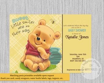 Baby winnie the pooh baby shower invitations winnie the pooh printed or digital baby winnie the pooh baby shower invitations winnie pooh party supplies filmwisefo