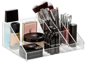 Multi-Purpose Makeup Organizer-Acrylic makeup organizer, cosmetic organizer. Holds makeup palettes, lipgloss, lipstick, brushes, foundations