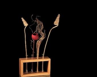 """Test tube vase standing """"Tømmer"""":"""