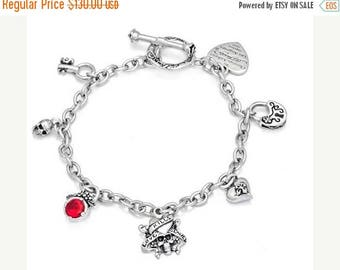 ON SALE Charm Bracelet Sterling Silver Pendants