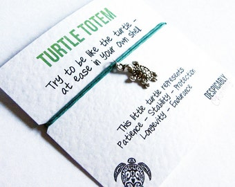 Turtle Friendship Bracelet - Wish bracelet - Turtle Totem - Turtle Charm - Best friend bracelet  - Turtle gift - Wish charm