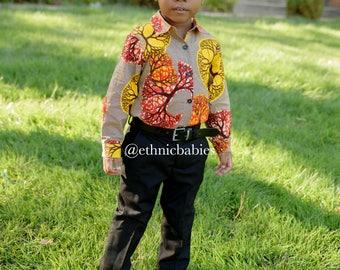 Ankara onesie shirt/African boy shirt/babyboy clothes//ankara onesie/kente /African clothing/Dashiki/baby african wear/african shirt/kente