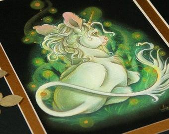 Waiting - Limited Edition Hand Embellished Unicorn Print
