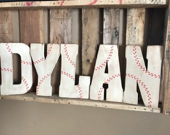 Baseball Wall Decor, Sports Wall Decor, Boys Room Decor, Baseball Letters