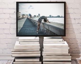 Malecon, Havana - ballet and travel fine art photography.