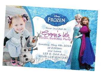 Frozen Invitations - printable - DIY - digital file